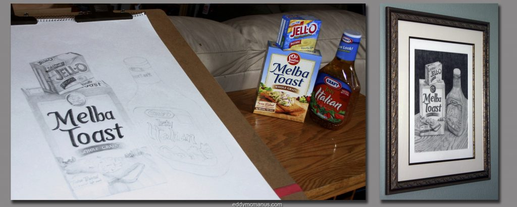 Drawing objects from the cupboard.